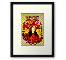 Mumtaz Mahal Pop Art Framed Print