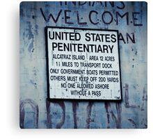 San Francisco - Alcatraz Canvas Print