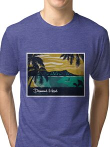 Diamond Head Hawaii Tri-blend T-Shirt