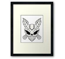 Corrupt Chaos Skull Framed Print