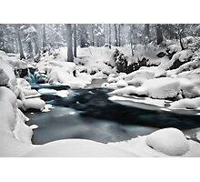 Snow - little waterfall Photographic Print