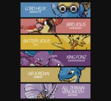 Twitch Plays Pokemon - The Team (with Text) T-Shirt