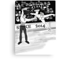 Olympics Accident 2 Canvas Print