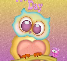 Owly Mothers Day .. card by LoneAngel