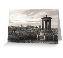 Edinburgh Skyline Mono 1 Greeting Card