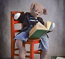 "Still Life #35 - "" Bookworm Bear "" by Malcolm Heberle"