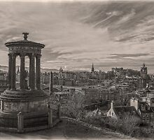 Edinburgh Skyline Mono 2 by DavidWHughes