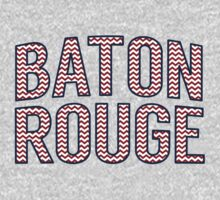 Baton Rouge Chevron Red White Blue One Piece - Long Sleeve