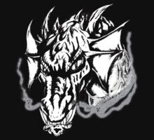 Angry Dragon (black and white) by 319media