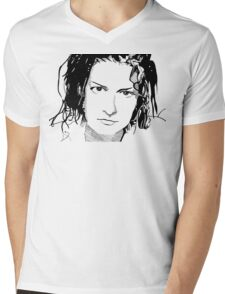 Mia Zapata Mens V-Neck T-Shirt