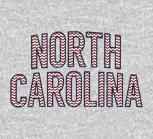 North Carolina Chevron Red White Blue Kids Tee