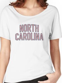 North Carolina Chevron Red White Blue Women's Relaxed Fit T-Shirt