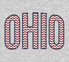 Ohio Chevron Red White Blue Baby Tee