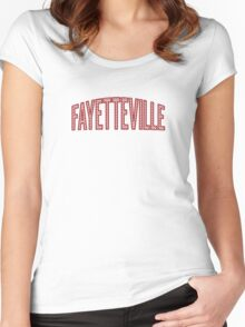 Fayetteville Red Chevron Women's Fitted Scoop T-Shirt