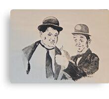 Laurel&Hardy Canvas Print