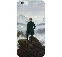 CASPAR DAVID FRIEDRICH (-  ), THE WANDERER ABOVE THE SEA OF FOG iPhone Case/Skin