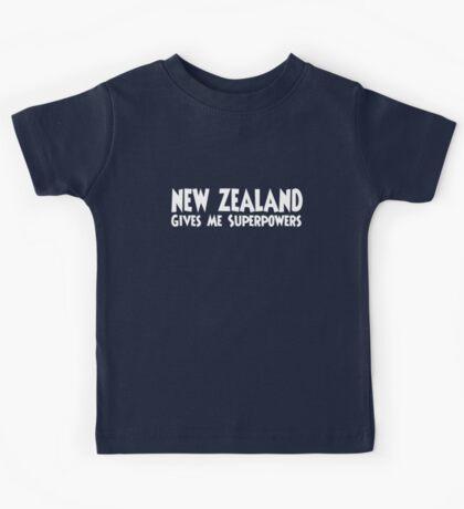 New Zealand Superpowers Kids Tee