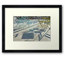 Chairs & Tables Framed Print