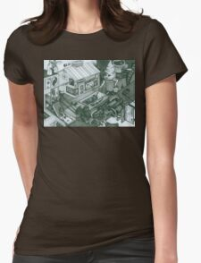 A Sundae In The Park With George Womens Fitted T-Shirt