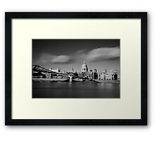 St Paul's Cathedral and Millenium Bridge Framed Print