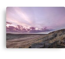 Buckstone edge sunset  Canvas Print