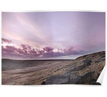 Buckstone edge sunset  Poster