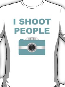 I Shoot People Aqua Camera T-Shirt