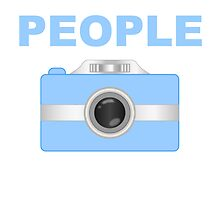 I Shoot People Blue Camera by kwg2200