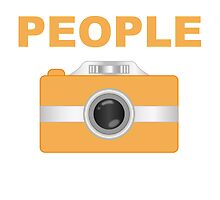 I Shoot People Orange Camera by kwg2200