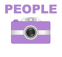 I Shoot People Purple Camera by kwg2200
