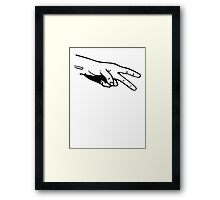 Rock Paper Scissors Scissors Framed Print