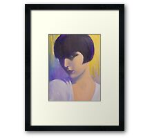 MYSTERIOUS LADY Framed Print