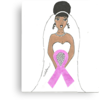 Breast Cancer greeting card Canvas Print