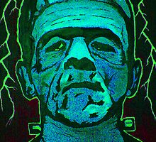 Boris Karloff as Frankenstein's monster by kramcox