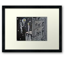 "Ink and Watercolor Sketches - ""The Balloons"" and ""At the Chancellerie"" Framed Print"