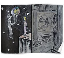 """Ink and Watercolor Sketches - """"The Balloons"""" and """"At the Chancellerie"""" Poster"""
