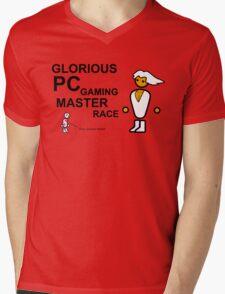 PCMR - Large Mens V-Neck T-Shirt