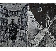 """Ink Sketches - """"The Library"""" and """"The Judgement of the Stars"""" Photographic Print"""