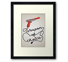 Weapon of Choice (2014 Revamped Version) Framed Print