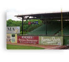 Baseball Field & Burma Shave Sign Canvas Print