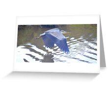 Heron in Flight Greeting Card