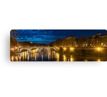 Ponte Sisto at night Canvas Print