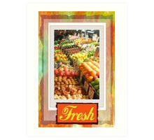 Farm Fresh Market Art Print