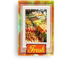 Farm Fresh Market Canvas Print