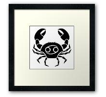 Cancer Crab Framed Print