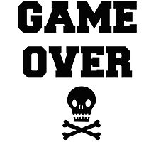 Game Over Skull & Crossbones by BW303-Gaming
