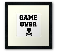 Game Over Skull & Crossbones Framed Print