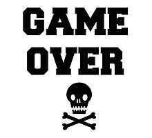 Game Over Skull & Crossbones Photographic Print