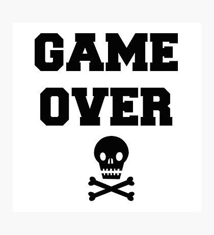 Game Over Skull & Crossbones Photographic Print
