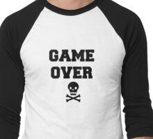 Game Over Skull & Crossbones Men's Baseball ¾ T-Shirt